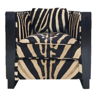 Forsyth One of a Kind Paul Frankl Zebra Hide Lounge Chair