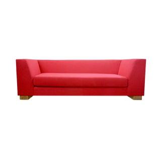 Maharam Red Wool Sofa