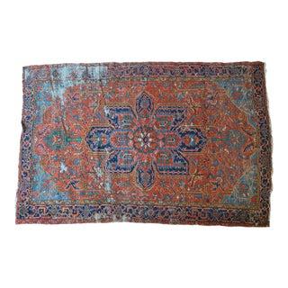 "Antique Persian Heriz Serapi Rug - 7'4"" X 10'10"""