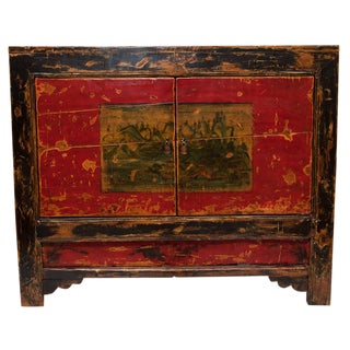 Antique Mongolian Painted Cabinet