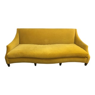 Custom Donghia Serpentine Mohair Sofa