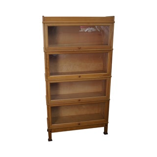 Vintage Maple Vertical Barrister Bookcase (A)