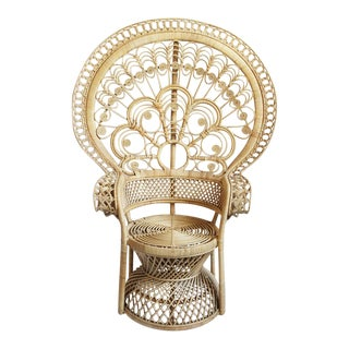 Raw Rattan Peacock Chair