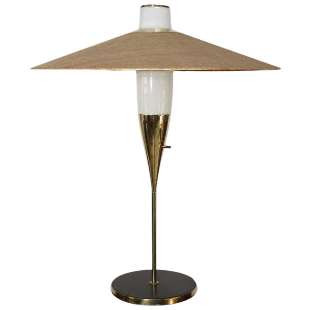 Rare Brass and Glass Table Lamp by Raymond Loewy for Stiffel, Model #9659 - Image 1 of 10