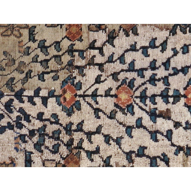 """Antique Persian Distressed Rug - 3'9"""" X 4'3"""" - Image 2 of 5"""