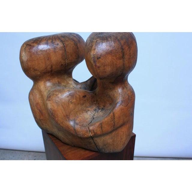 Image of Free-Form Burl Wood 'Head' Sculpture
