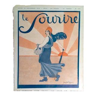 """Jean Le Seyeux 1919 """"Marianne"""" Cover Print"""