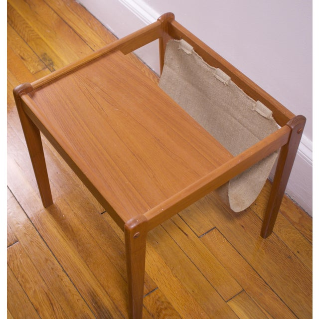 Mid-Century Furbo Danish Teak Side Table With Magazine Holder - Image 10 of 10