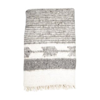 Grey & White Wool Blanket