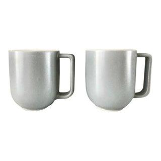 Sasaki Colorstone Massimo Vignelli Gray Coffee Mugs - a Pair