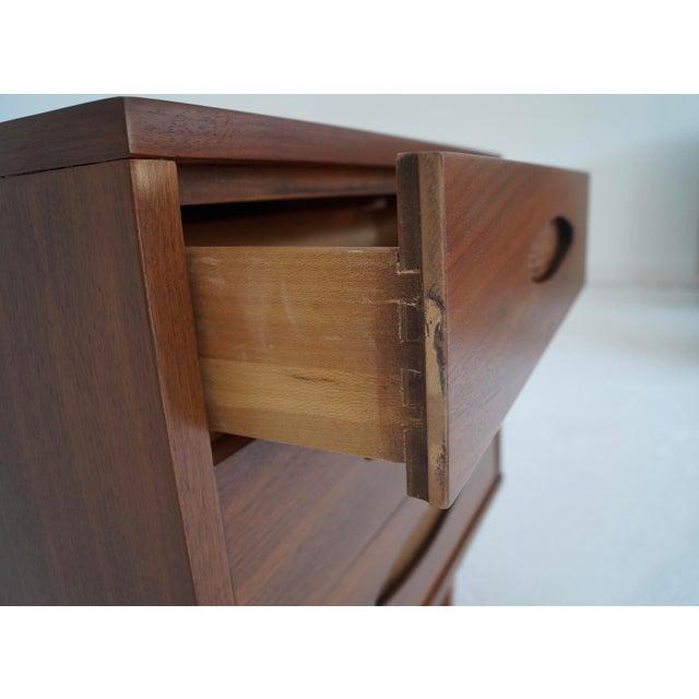 Image of McCoy Furniture Mid-Century 3-Drawer Walnut Nightstand
