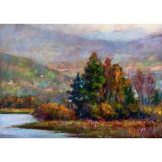 Original Autumnal Pastel Drawing