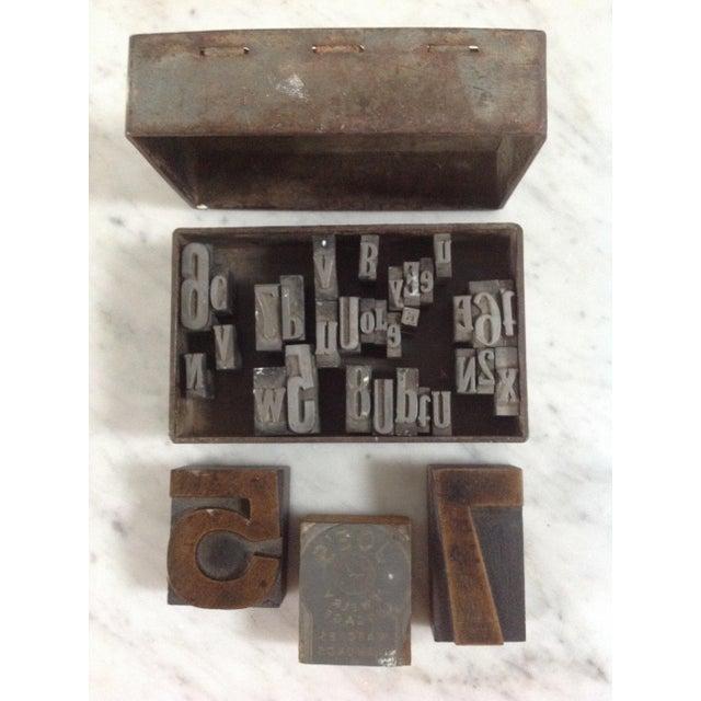 Vintage Industrial Letterpress Blocks - Set of 34 - Image 2 of 8