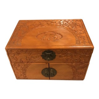 Vintage Asian Chinoiserie Jewelry Box