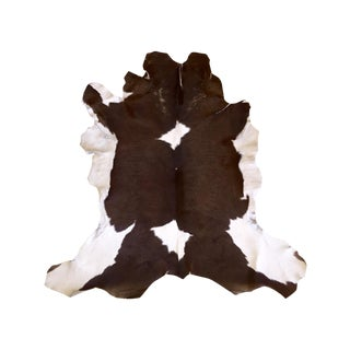 Brown & White Genuine Cowhide Rug - 4' X 2'10""