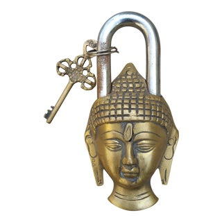 Cast Bronze Buddha Padlock