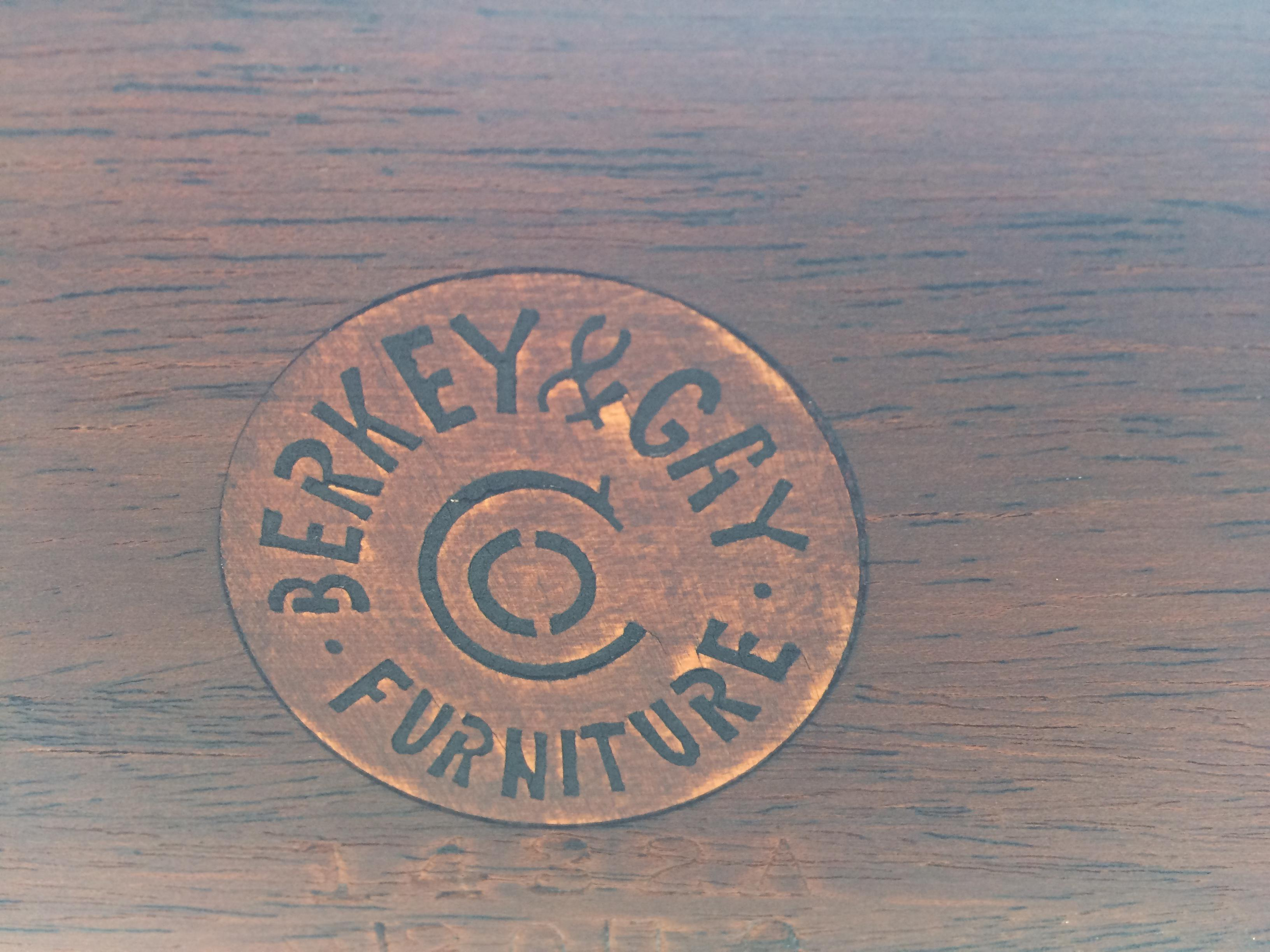 berkey gay dating site A two pedestal table, each with tripod curved legs, with 7 chairs 2 captain's and 5 armless tag from renowned furniture manufacturer berkey & gay furniture co dating from 1929 to 1948.