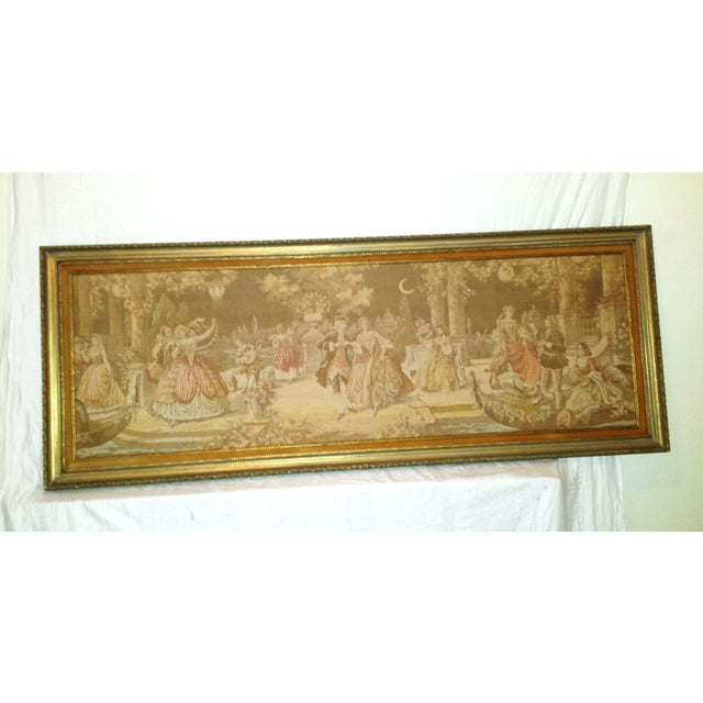 Antique Very Large Framed French Tapestry - Image 2 of 7