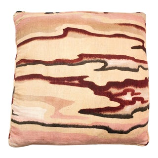 Vintage Pink Raw Silk Marbled Pillow