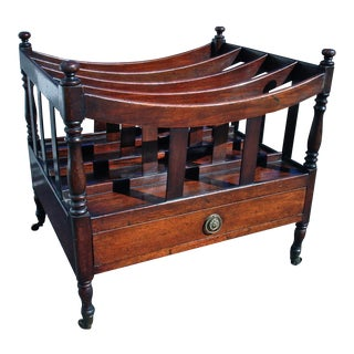 Period Georgian Mahogany Caterbury or Music Magazine Holder
