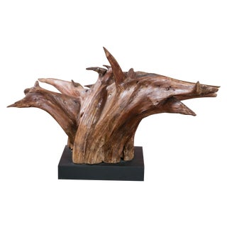 Mounted Driftwood Sculpture
