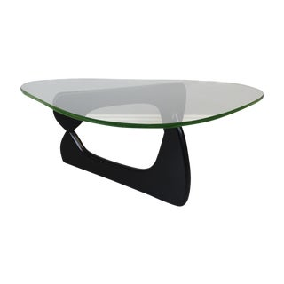 1960's Isamu Noguchi Glass Table with Ebony Base