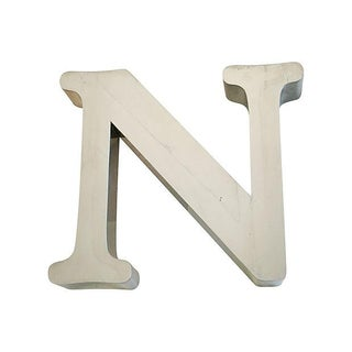 1970s Stainless Steel Marquee Letter N