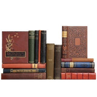 Antique Poetry Book Collection - Set of 15