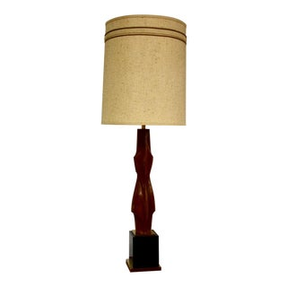 Laurel Sculpted Walnut Table Lamp