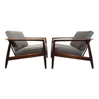 Folke Ohlsson Teak Lounge Chairs - A Pair
