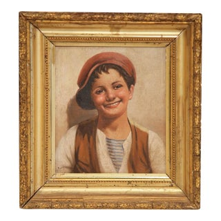 19th C. Italian Portraits Paintings - A Pair
