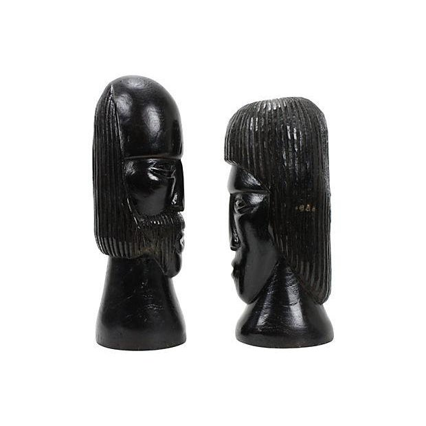 Image of Jamaican Couple Modern Wood Sculptures