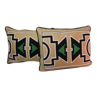 Vintage Diaspora Handmade Beaded Leather Tribal Decorative Pillow