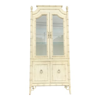 Vintage Thomasville Faux Bamboo China Cabinet