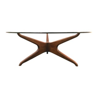 Vladimir Kagan Biomorphic Walnut Coffee Table