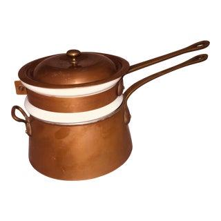 Bazar Francais Copper Double Boiler