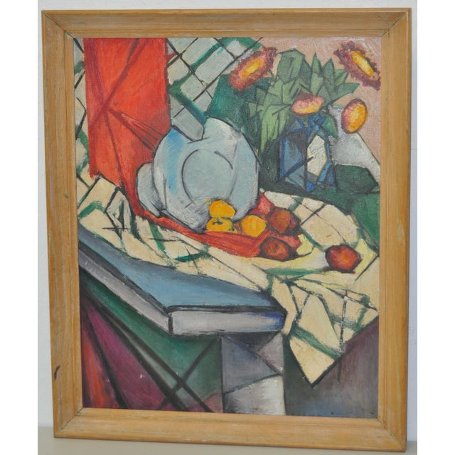 Mid Modern Still Life Oil Painting C.1950's - Image 6 of 6