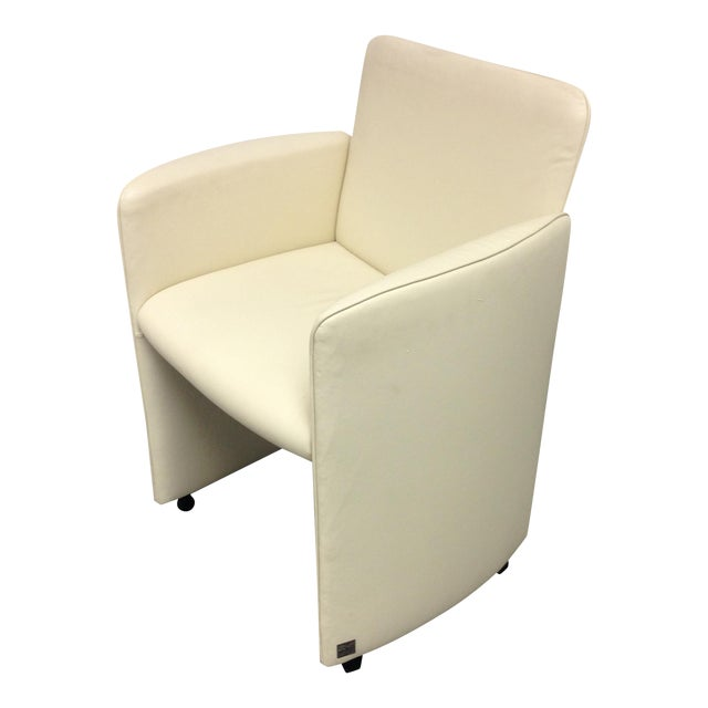Image of Ivory Leather Chair by Calia