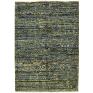 """Eclectic, Hand Knotted Area Rug - 4' 4"""" x 5' 10"""""""