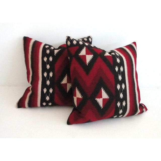 Fantastic Early Geometric Indian Weaving Pillows - Image 4 of 4