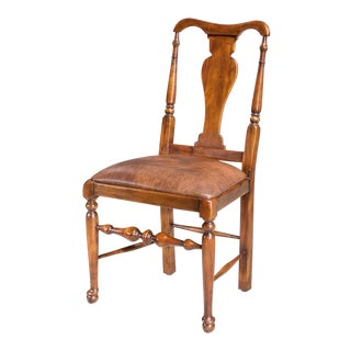 Sarreid Ltd Queen Anne Style Walnut Dining Chairs- Set of 6