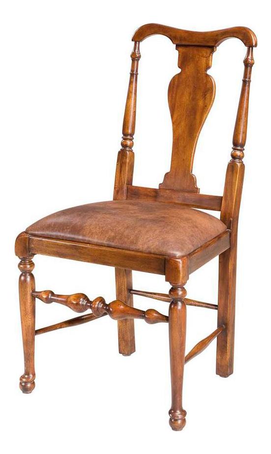 Sarreid Ltd Queen Anne Style Walnut Dining Chairs  Set Of 6