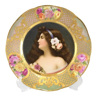 Circa 1900 Royal Vienna Style Hand Painted Plate