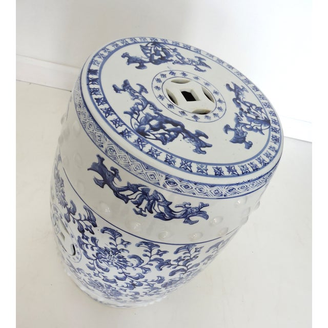 Image of Blue & White Chinese Garden Seat