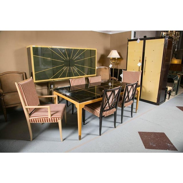 Tommi Parzinger Inlaid Mahogany Dining Table - Image 2 of 9
