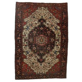 "Antique Persian Serape Wool Rug - 4'8"" x 6'8"""