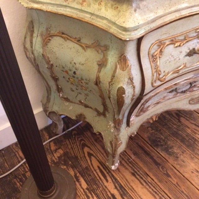 French Rococo Painted & Parcel Gilt Commode - Image 4 of 10