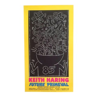 "Keith Haring ""Future Primeval"" Original Offset Lithograph"