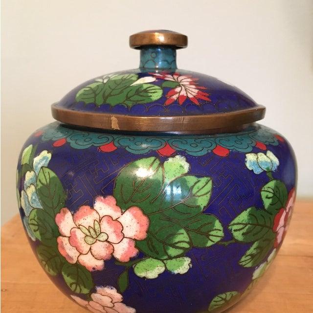 Vintage Cloisonné Bowl With Lid - Image 3 of 11