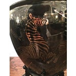 Image of Scalamandre Zebra Vase With Stand